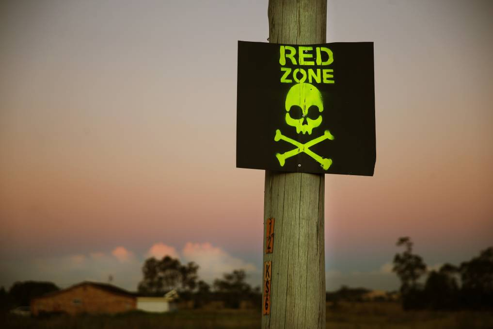 'RED ZONE': A Port Stephens Council report on the PFAS contamination in and around the Williamtown RAAF Base went before councillors on Tuesday night. Picture: Marina Neil