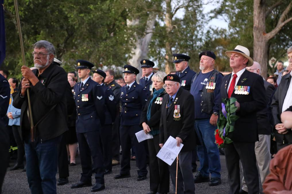 RESPECTS: Dawn service in Karuah in 2019. The march and dawn service will go ahead on Sunday, April 25 but not the mid-morning service at the Memorial Wall.