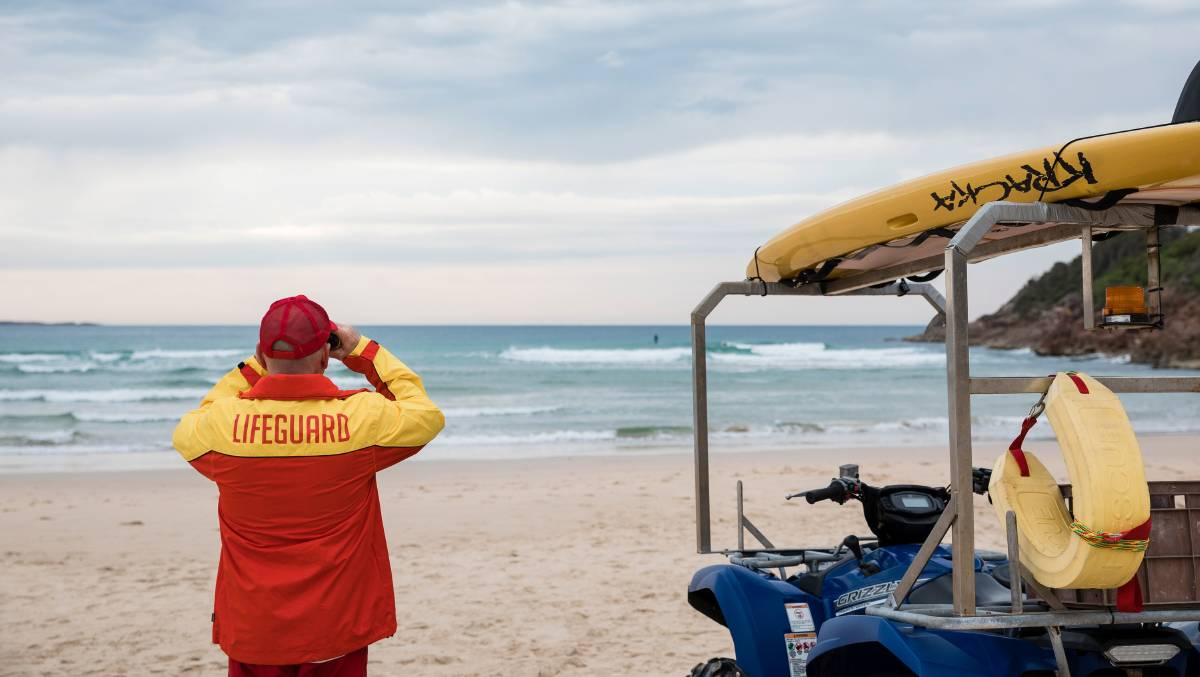ON DUTY: Lifeguards are once again patrolling One Mile Beach seven days a week between 9am and 4pm until September. Picture: Supplied