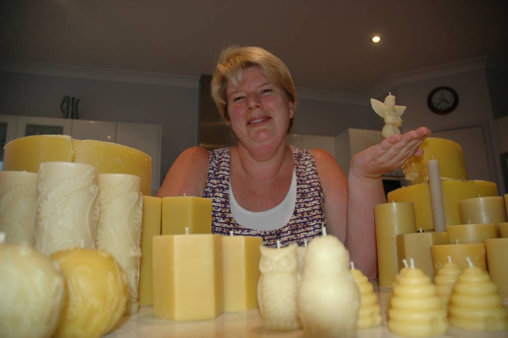 DREAM A REALITY: The Port's Suzanne Blakestone is the national beeswax candle-making champion.
